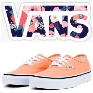 Vans Authentic Peach Pink Size 6